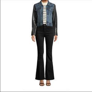 Rag & Bone Black Flare Bella High Rise Jeans 26